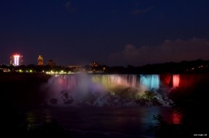 American falls night